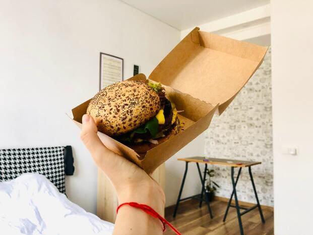 Hamburguesas, ejemplo perfecto de comida para llevar en Pozuelo