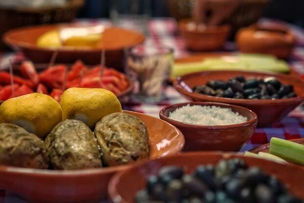 Diferentes platos griegos