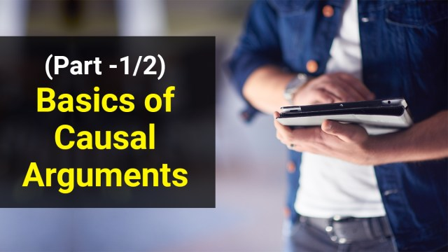 What are casual arguments in GMAT Verbal?