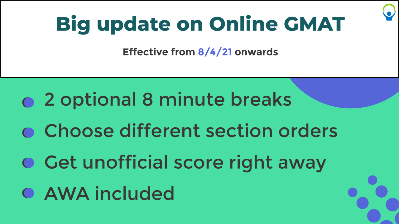 Online GMAT latest updates 2021