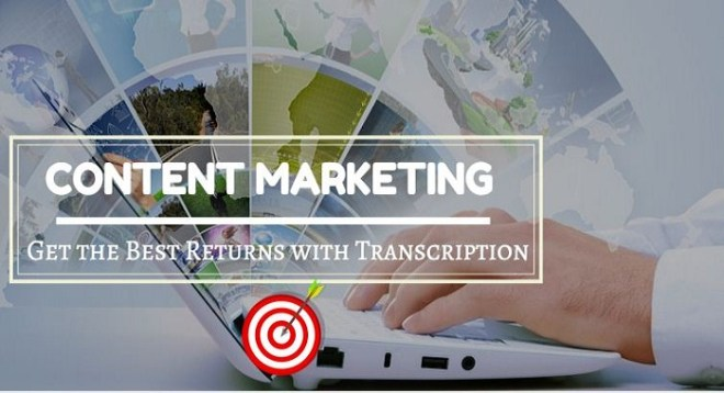 Content Marketing Get the Best Returns with Transcription
