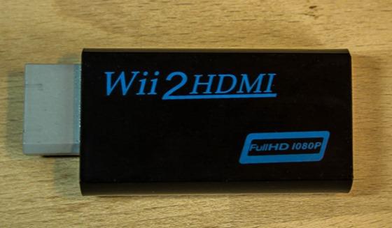Wii HDMI Adapter in schwarz