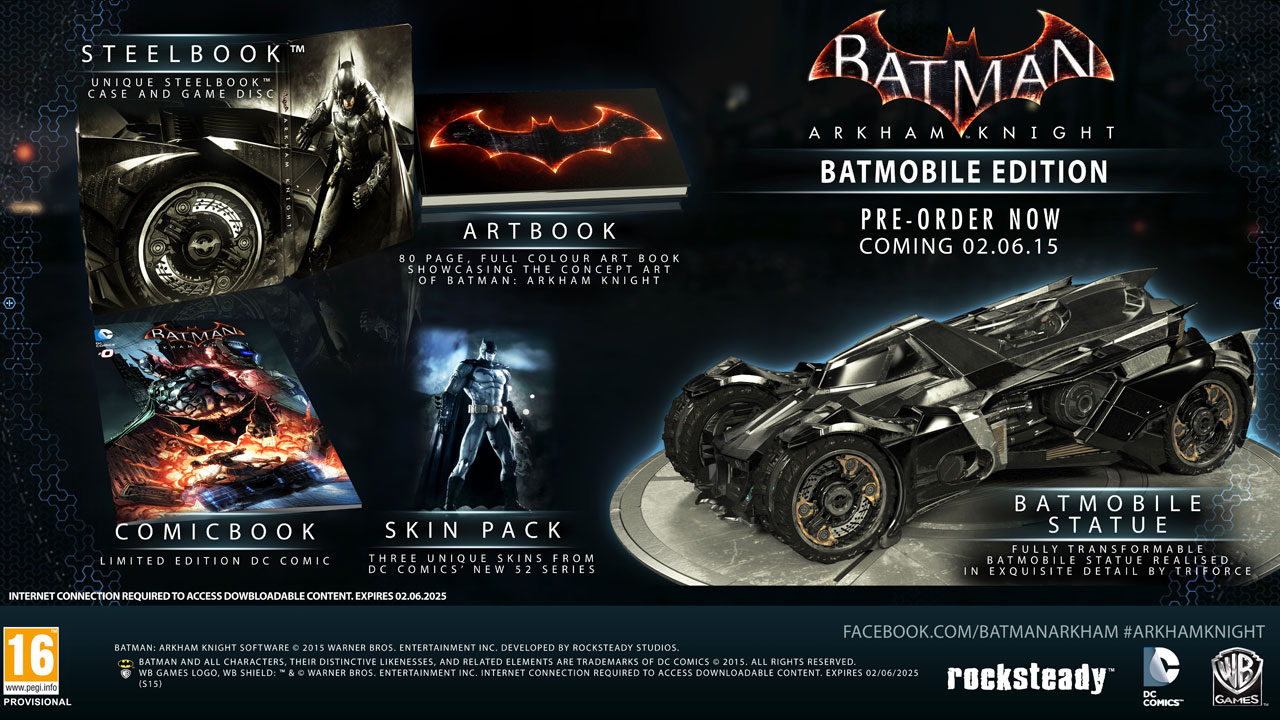 Batman: Arkham Knight – Collector's Edition Cancelled