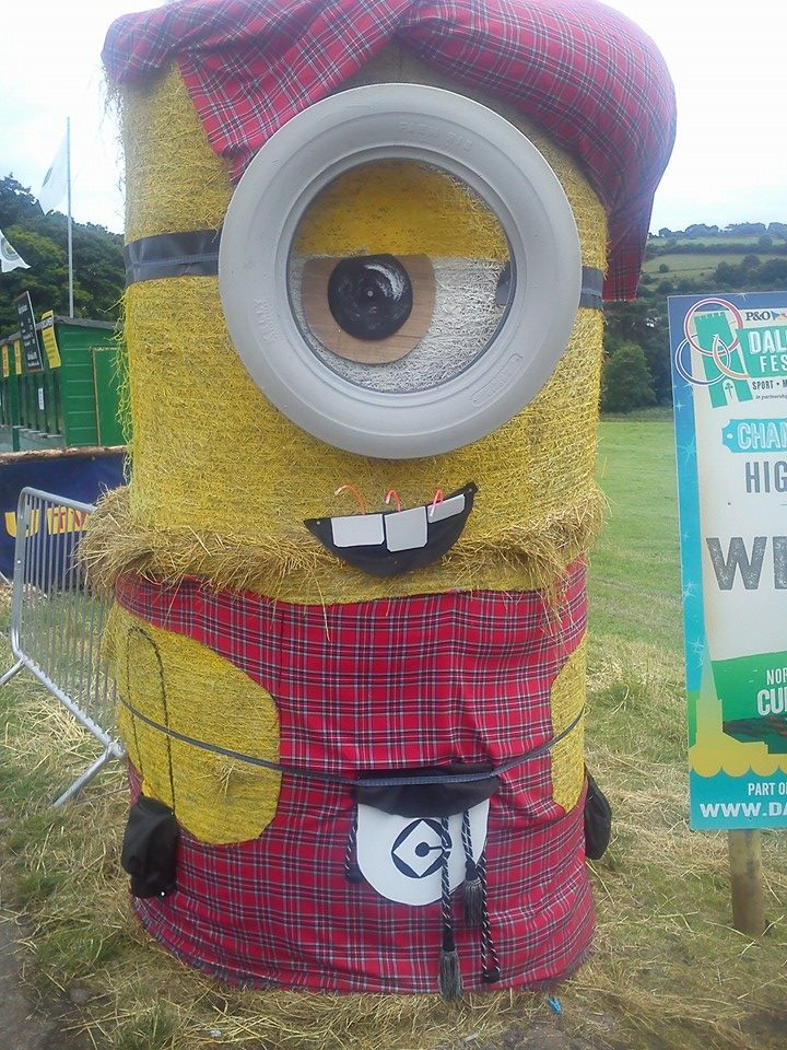 A Yellow Minion in a Sottish outfit