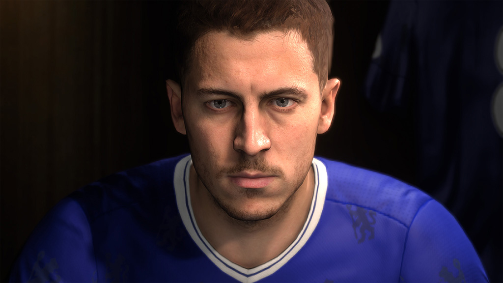 Eden Hazard's new game-face powered by the Frostbite engine.