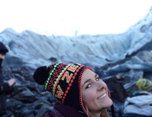 Erin Oppenheim at Fox Glacier, New Zealand