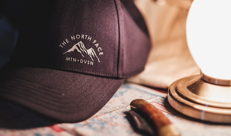 north face logo on a hat