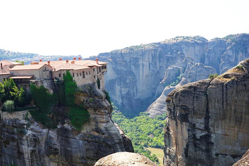 Meteora hiking trail in Greece