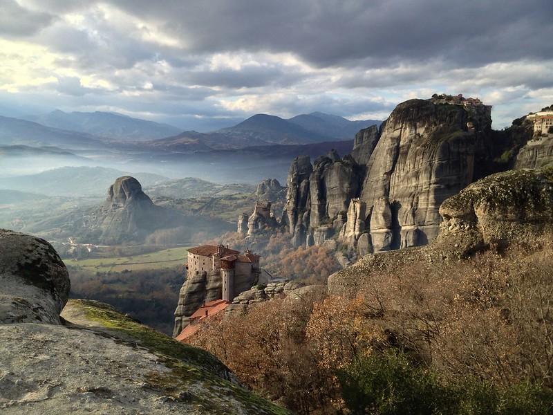 Meteora monasteries and mountains