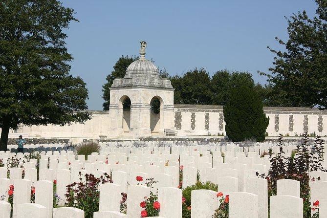Gravestones in Flanders Field.