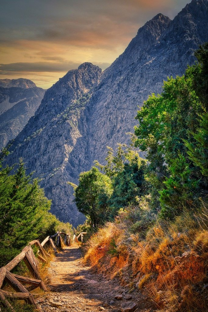 Path to Samaria Gorge in Crete