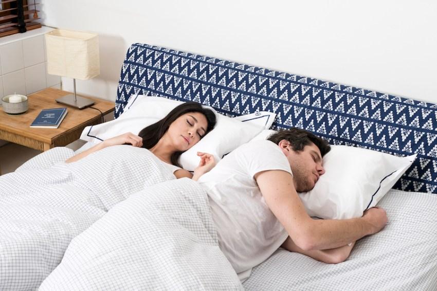 Secrets bonne nuit de sommeil Photo d'un couple en train de dormir