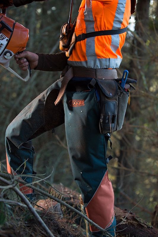 Chainsaw safety gear for ground work