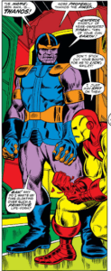 Thanos-First-Appearance-123x300 Iron Man #55 Price Drop