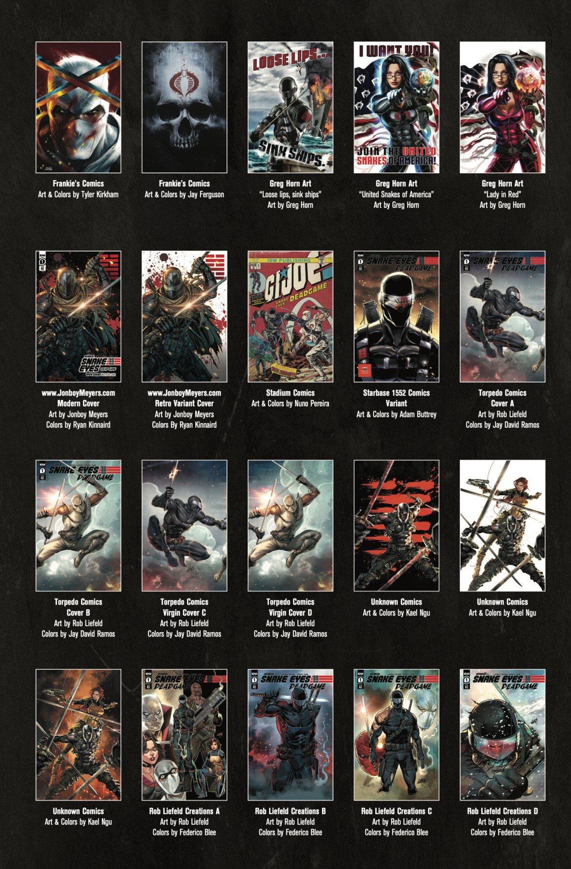 8cc5ef16-992e-4bdf-b1f8-1aa175309d79 IDW's SNAKE EYES: DEADGAME will feature 36 exclusive covers