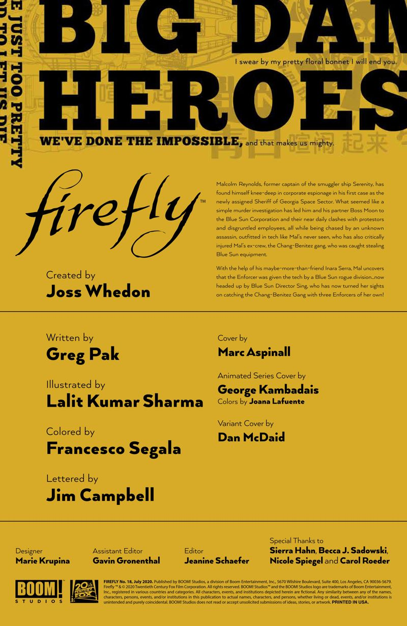 Firefly_018_PRESS_2 ComicList Previews: FIREFLY #18