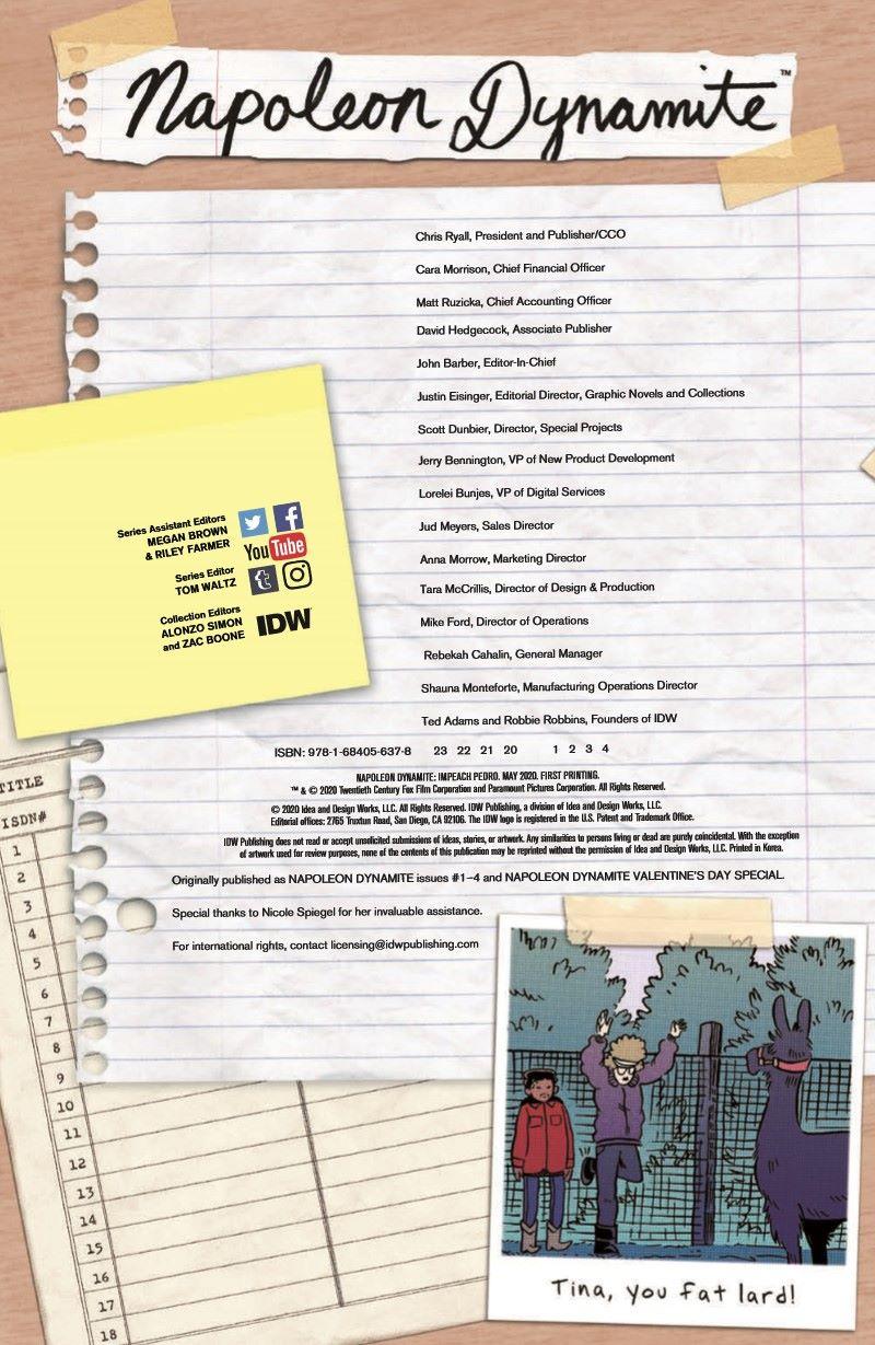 Napoleon_TPB_pr-2 ComicList Previews: NAPOLEON DYNAMITE IMPEACH PEDRO TP