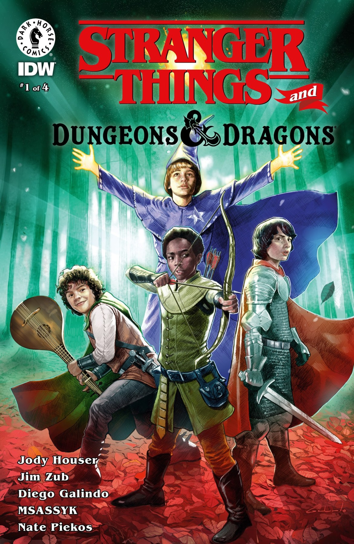 ST_DnD_cov Dark Horse and IDW combine STRANGER THINGS and DUNGEONS & DRAGONS