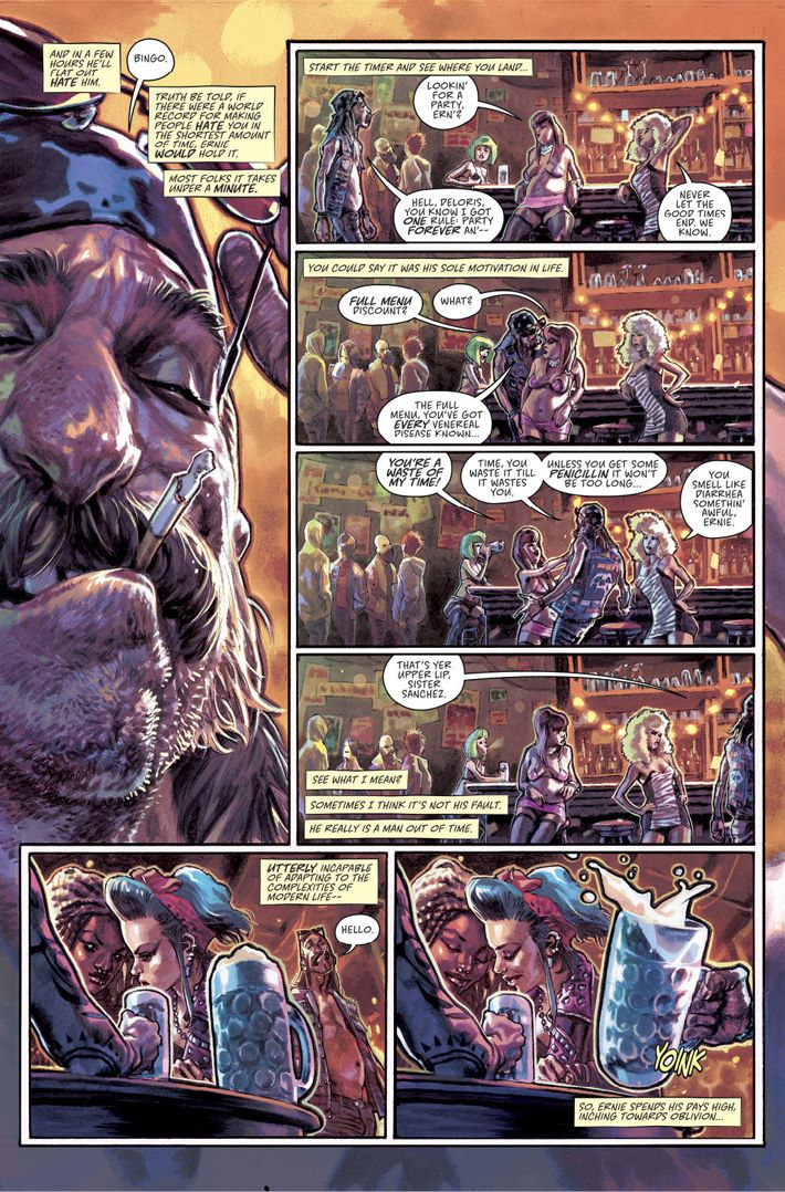 Scumbag01-Page02_c6815a0147f8285e3b5042ebb3626151 Artists will rotate this October in Rick Remender's SCUMBAG