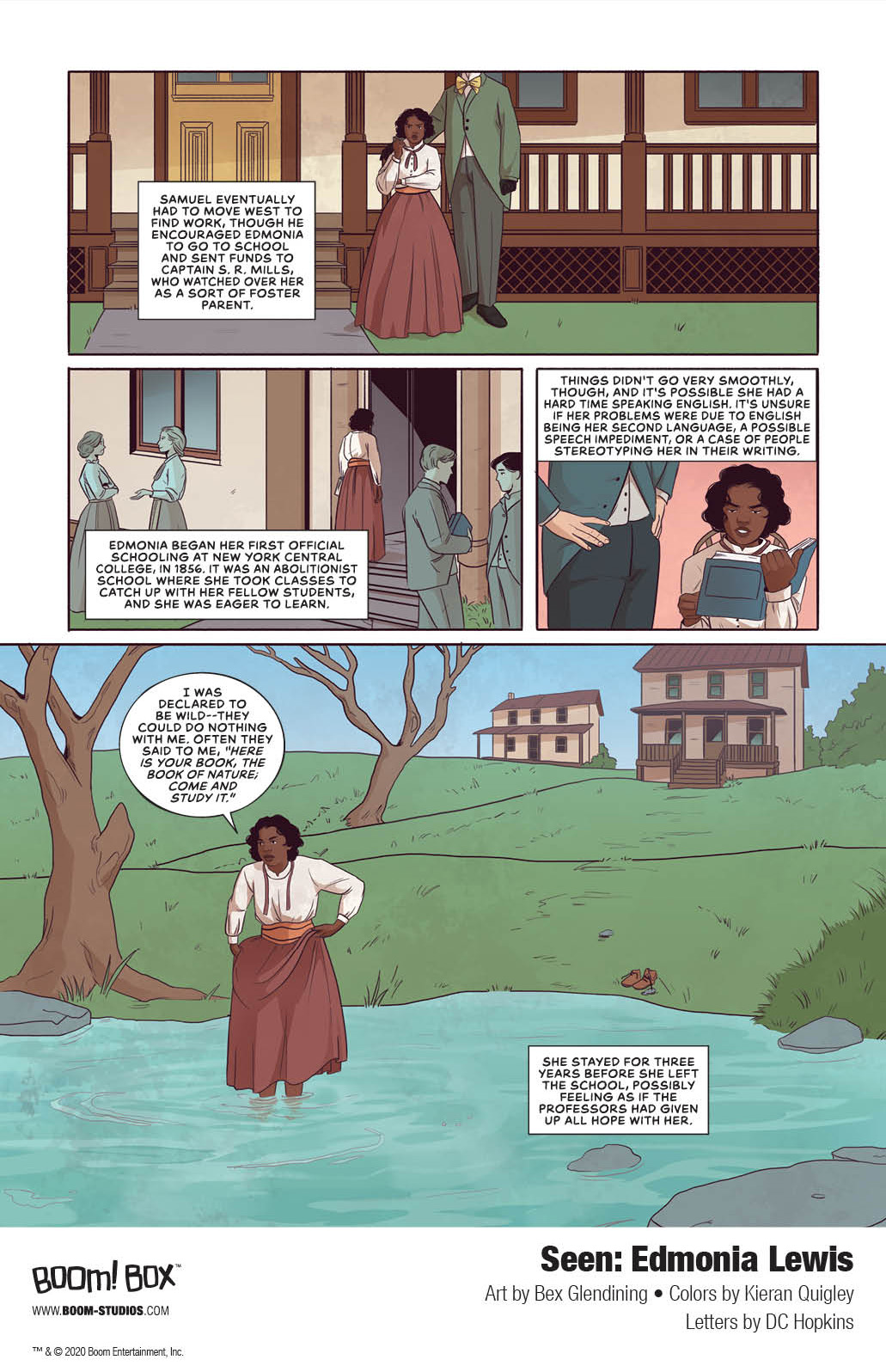 Seen_EdmoniaLewis_Interiors_005_PROMO Discover the spectacular story of sculptor Edmonia Lewis in BOOM! Studios' SEEN
