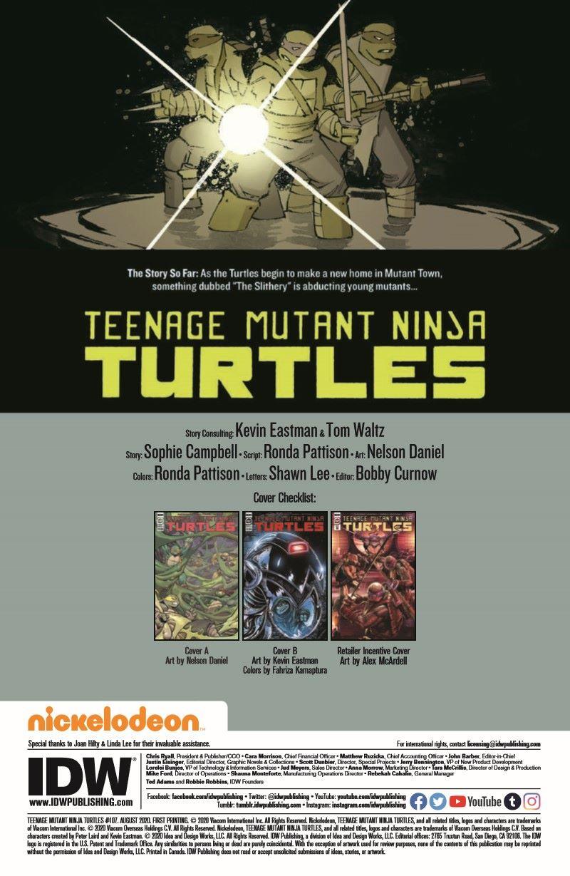 TMNT107_pr-2 ComicList Previews: TEENAGE MUTANT NINJA TURTLES #107