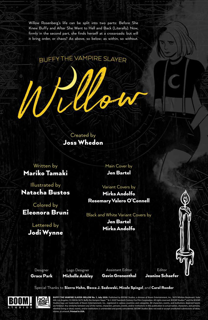 Willow_001_PRESS_2 ComicList Previews: BUFFY THE VAMPIRE SLAYER WILLOW #1
