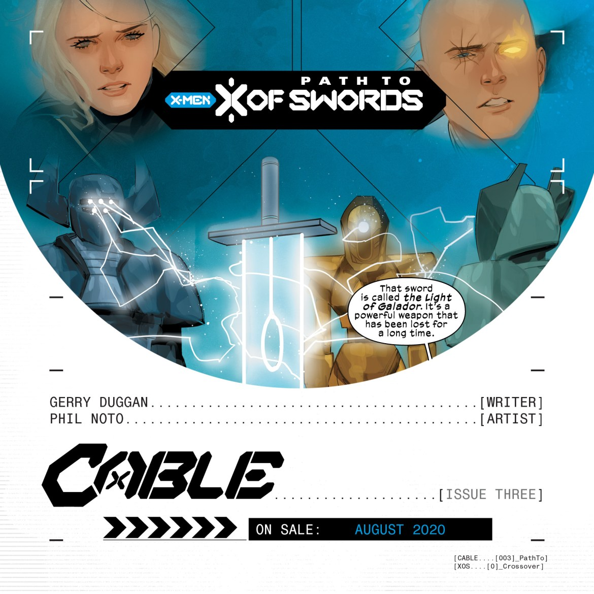 XOSPromo_Cable03 The path to X OF SWORDS goes through CABLE #3