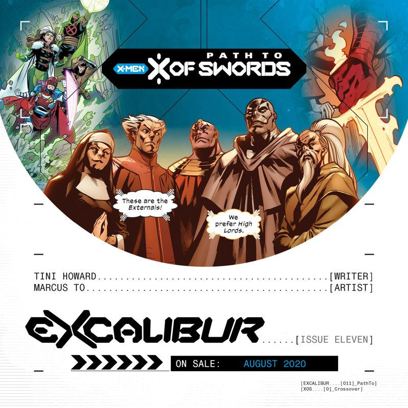 XOSPromo_TheHighLords_A The path to X OF SWORDS goes through EXCALIBUR #11