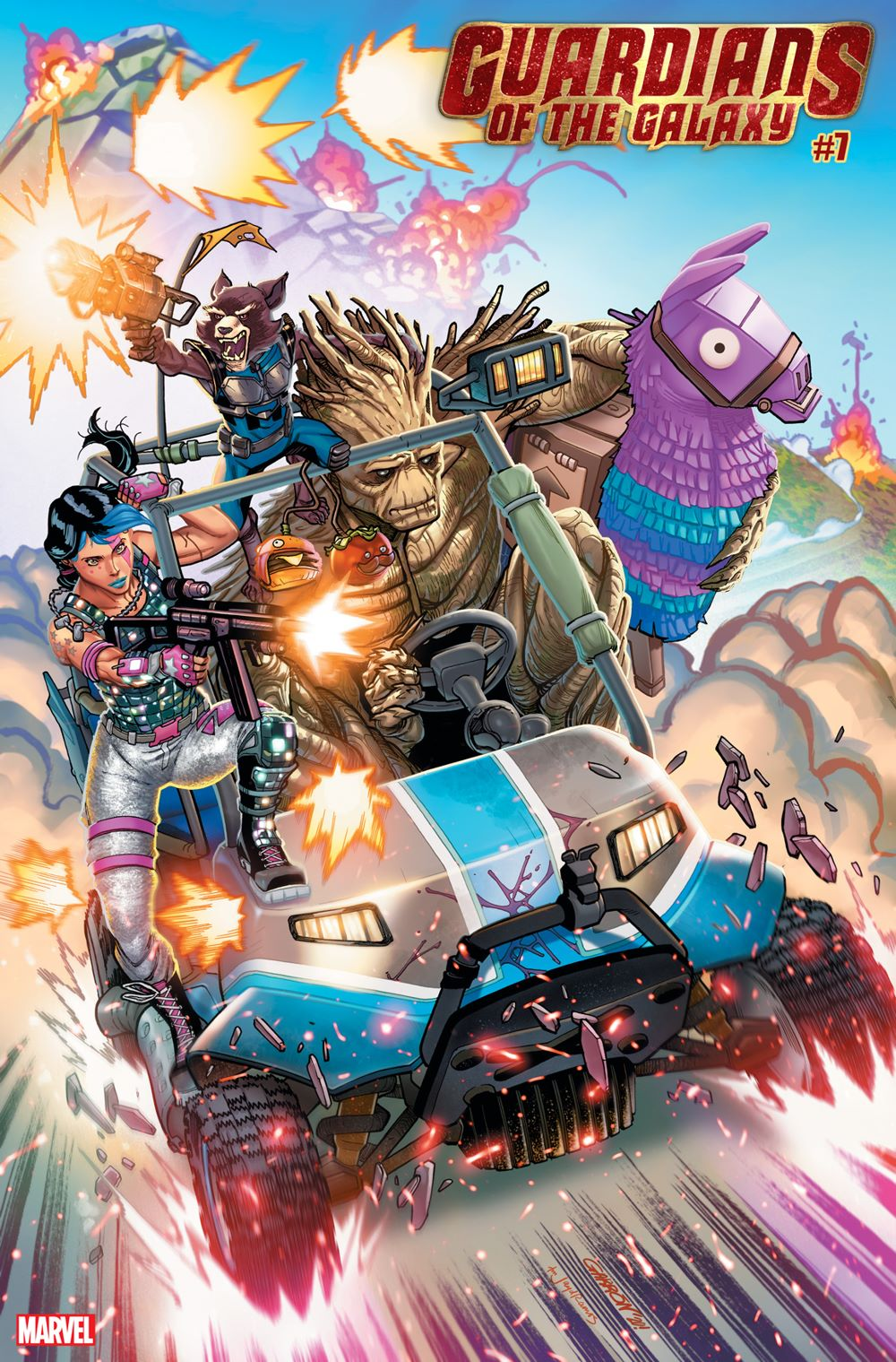 GARGAL2020007_Garron_FortniteVariant Marvel and Fortnite characters unite on special variant covers