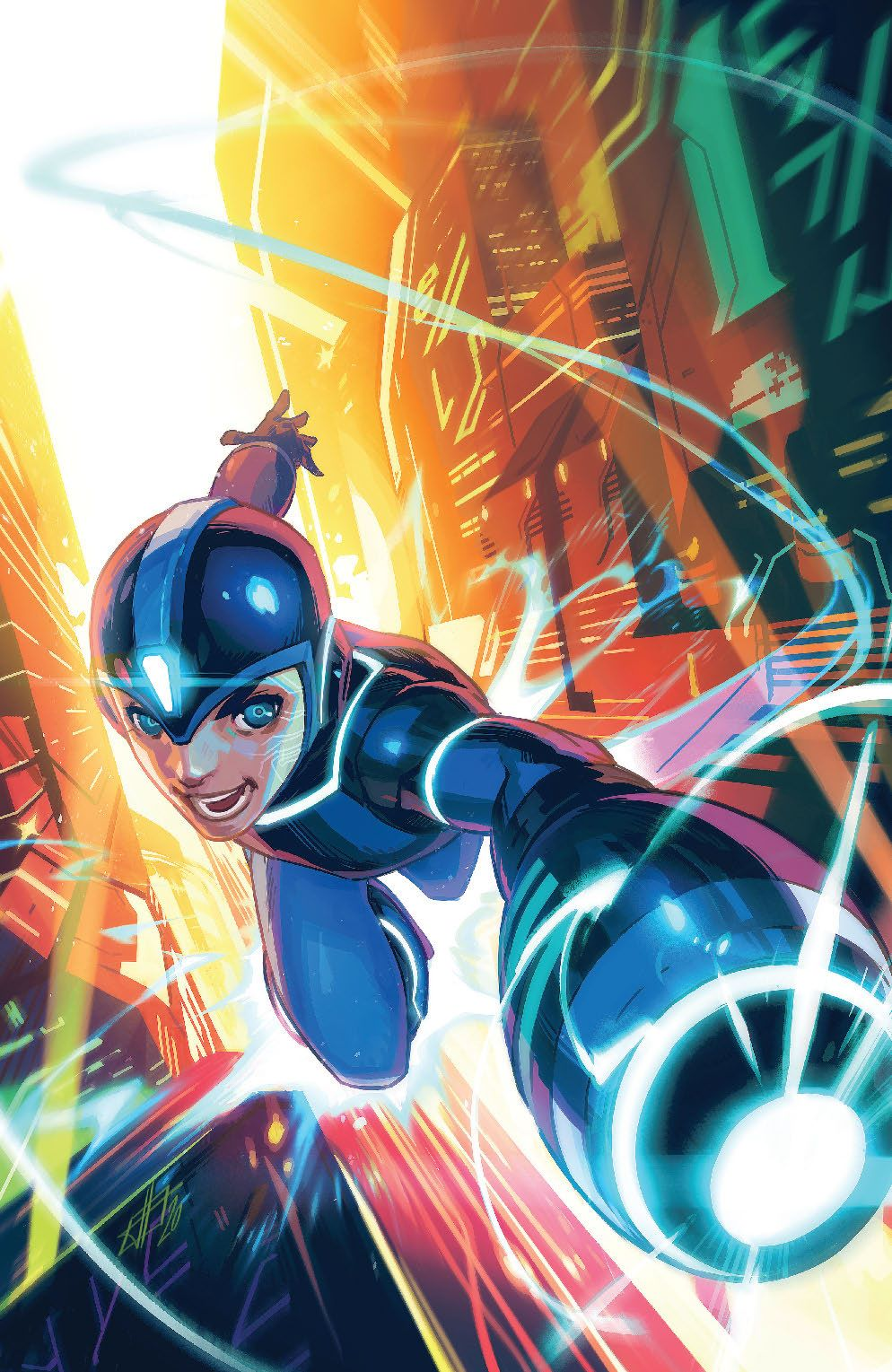 MegaMan_FullyCharged_001_Cover_Foil ComicList Previews: MEGA MAN FULLY CHARGED #1