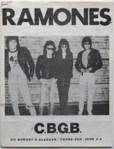 Ramones-1975-231x300 Musical Genres in Concert Posters