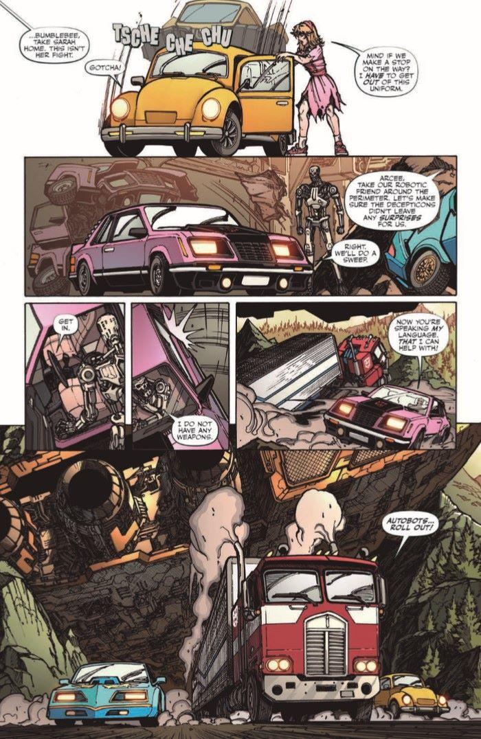 TFvTerminator-03-pr-7 ComicList Previews: TRANSFORMERS VS THE TERMINATOR #3
