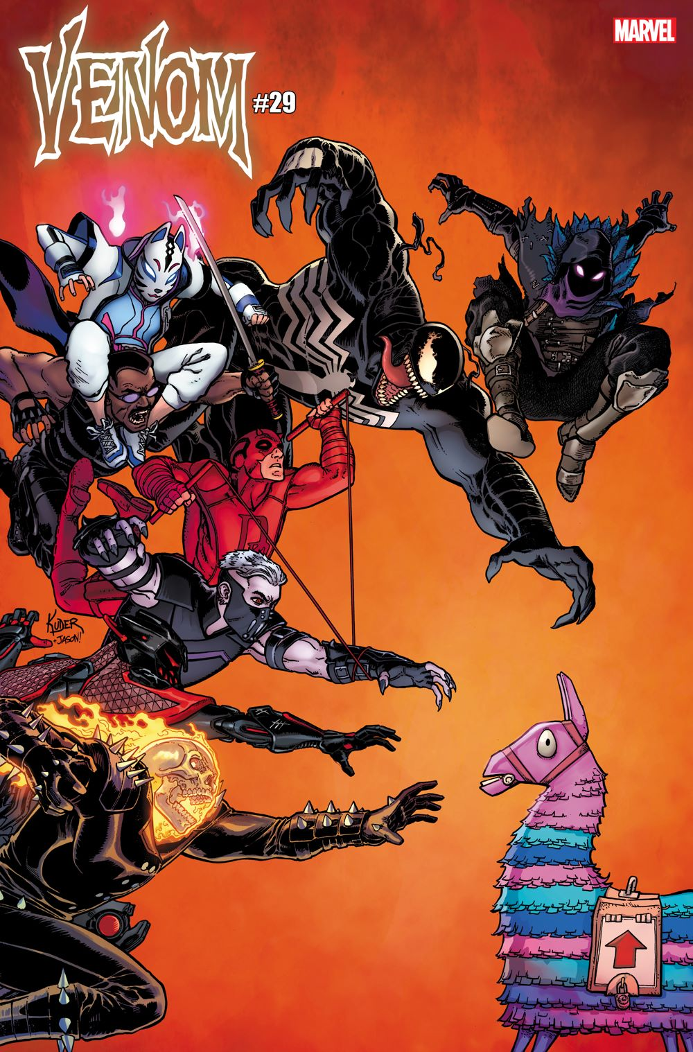 VENOM2018029-Kuder_FortniteVariant Marvel and Fortnite characters unite on special variant covers