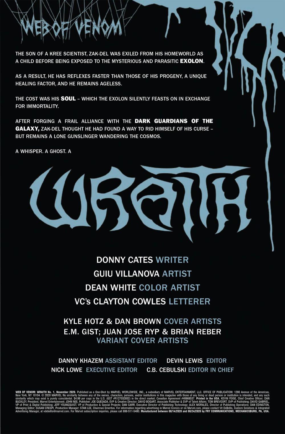WOVWRAITH2020001-Preview-2 ComicList Previews: WEB OF VENOM WRAITH #1