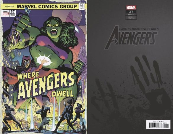 AVENGERS-37-RODRIGUEZ-WHERE-AVENGERS-DWELL-HORROR-VARIANT Marvel Comics will issue timely Horror Variant covers this October