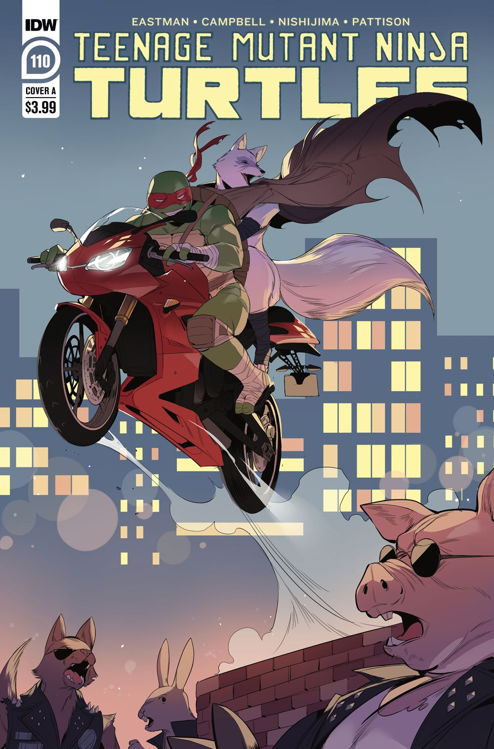 TMNT110_cvrA ComicList Previews: TEENAGE MUTANT NINJA TURTLES #110
