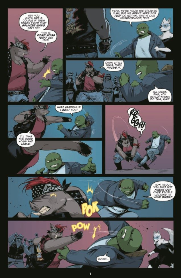 TMNT110_pr-7 ComicList Previews: TEENAGE MUTANT NINJA TURTLES #110