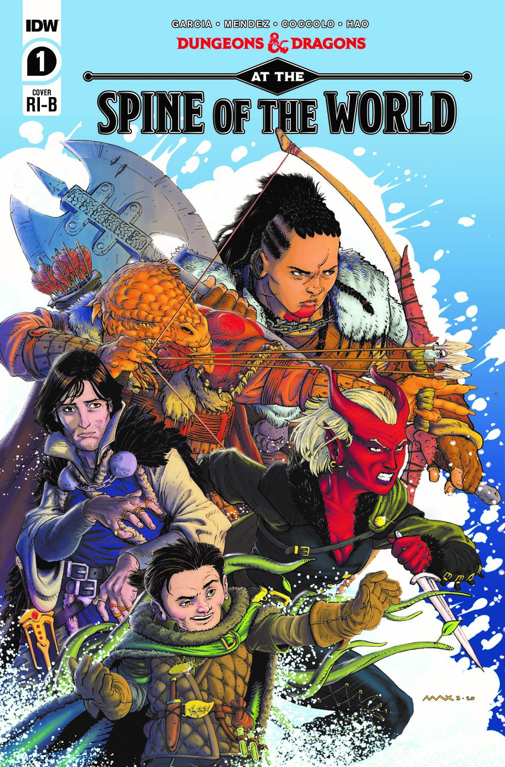 DD_ATSOTW01-coverRIB ComicList Previews: DUNGEONS AND DRAGONS AT THE SPINE OF THE WORLD #1 (OF 4)