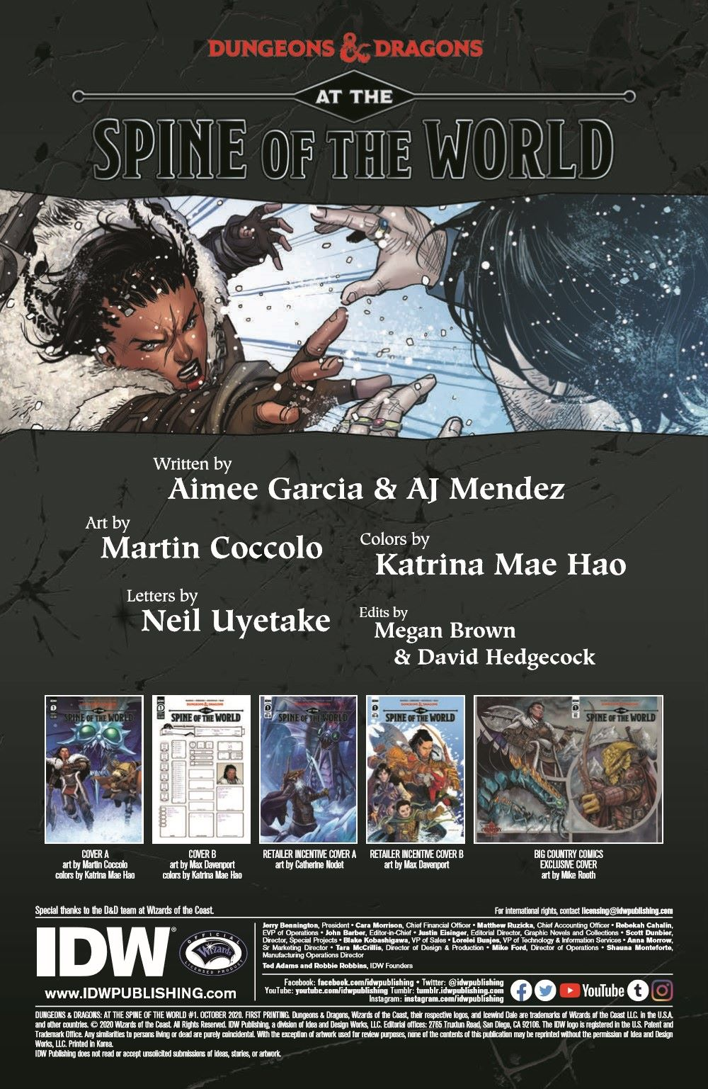DD_ATSOTW01-pr-2 ComicList Previews: DUNGEONS AND DRAGONS AT THE SPINE OF THE WORLD #1 (OF 4)