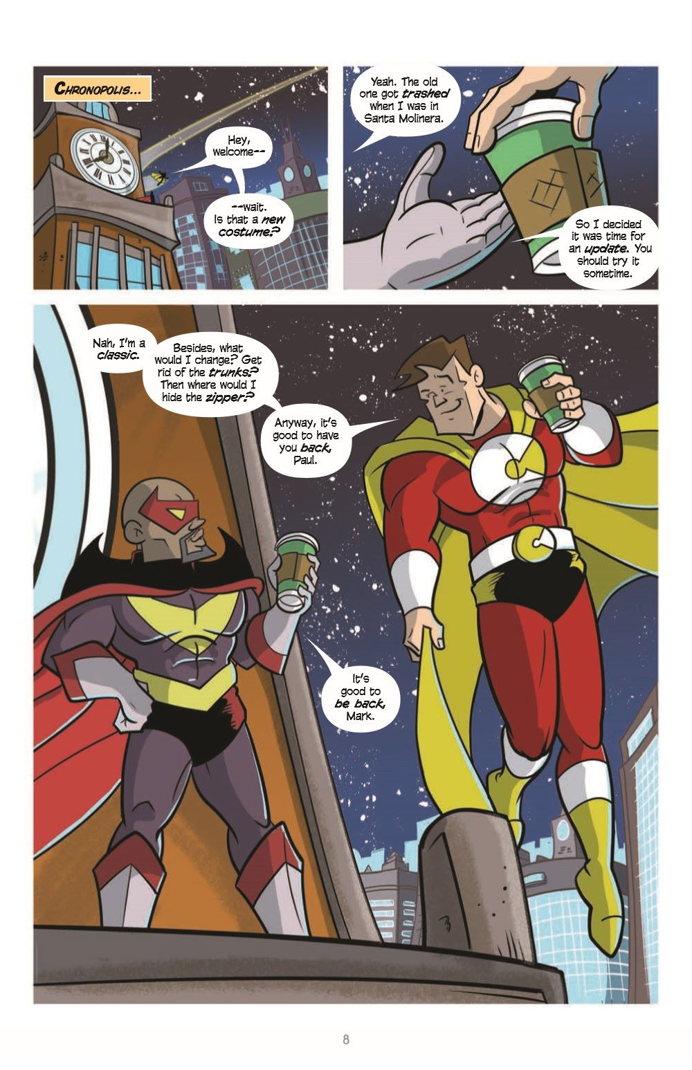 LoveandCapes_V5_pr-4 ComicList Previews: LOVE AND CAPES VOLUME 5 THE FAMILY WAY TP