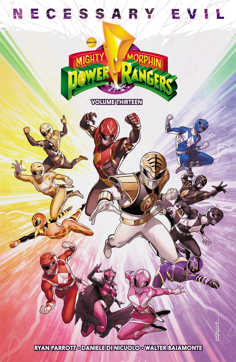 MMPR_v13_Cover ComicList Previews: MIGHTY MORPHIN POWER RANGERS VOLUME 13 TP