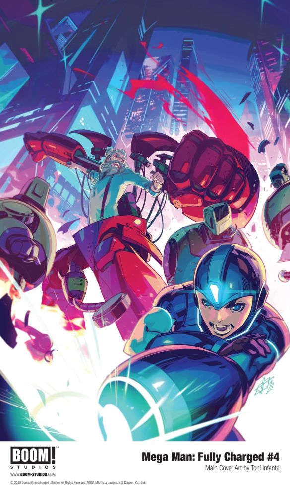 MegaMan_FullyCharged_004_Cover_Main_PROMO First Look at BOOM! Studios' MEGA MAN: FULLY CHARGED #4