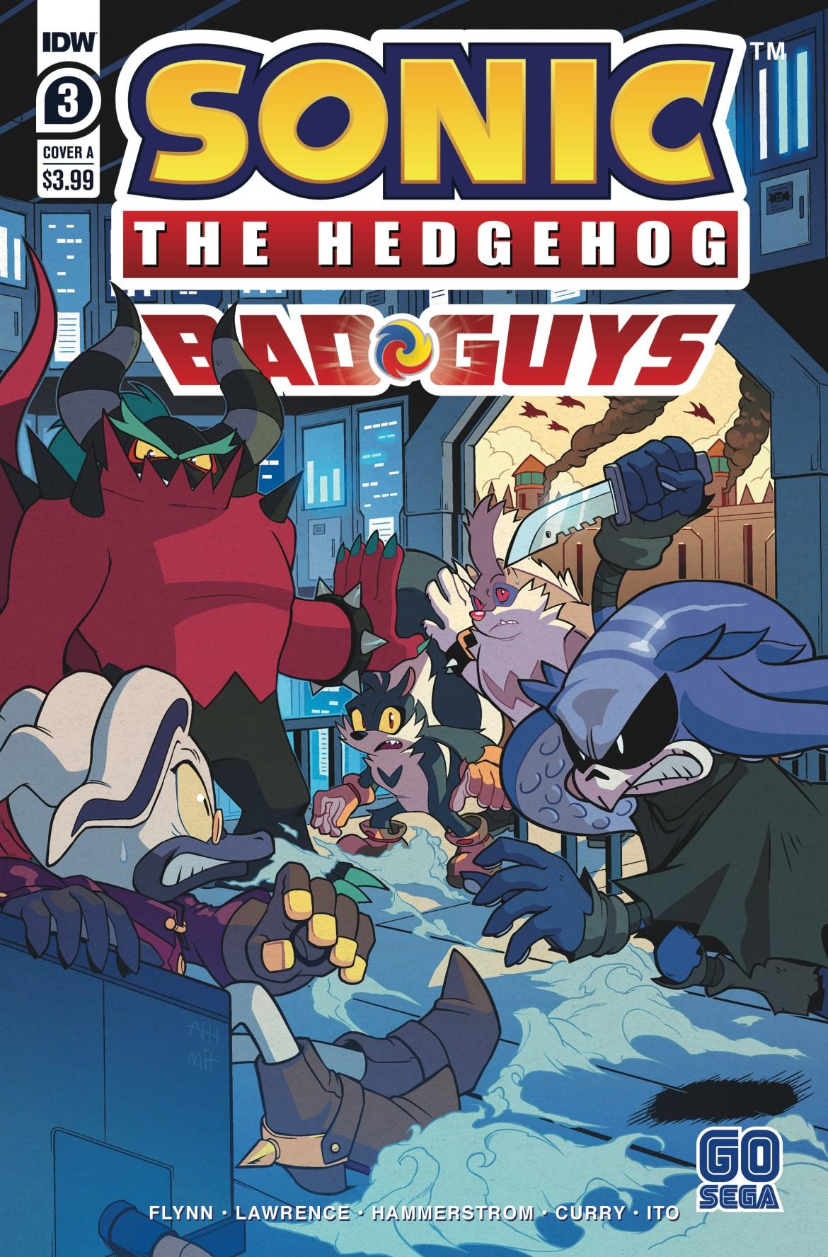 STH-BG03_cvrA ComicList Previews: SONIC THE HEDGEHOG BAD GUYS #3 (OF 4)