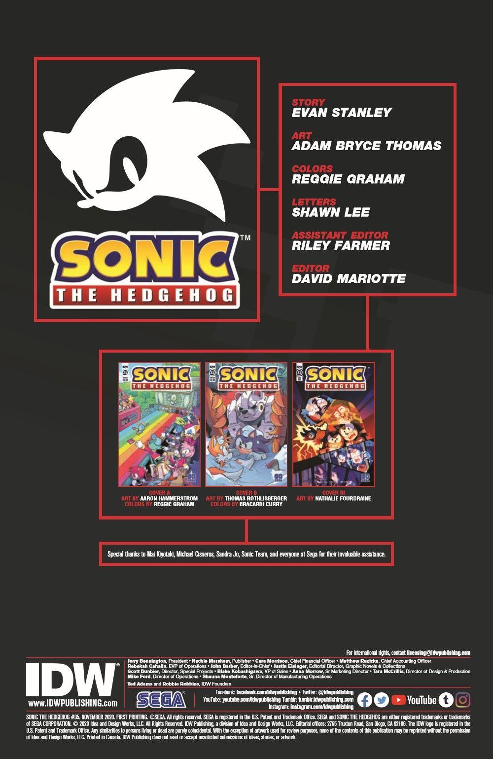 STH35_pr-2 ComicList Previews: SONIC THE HEDGEHOG #35