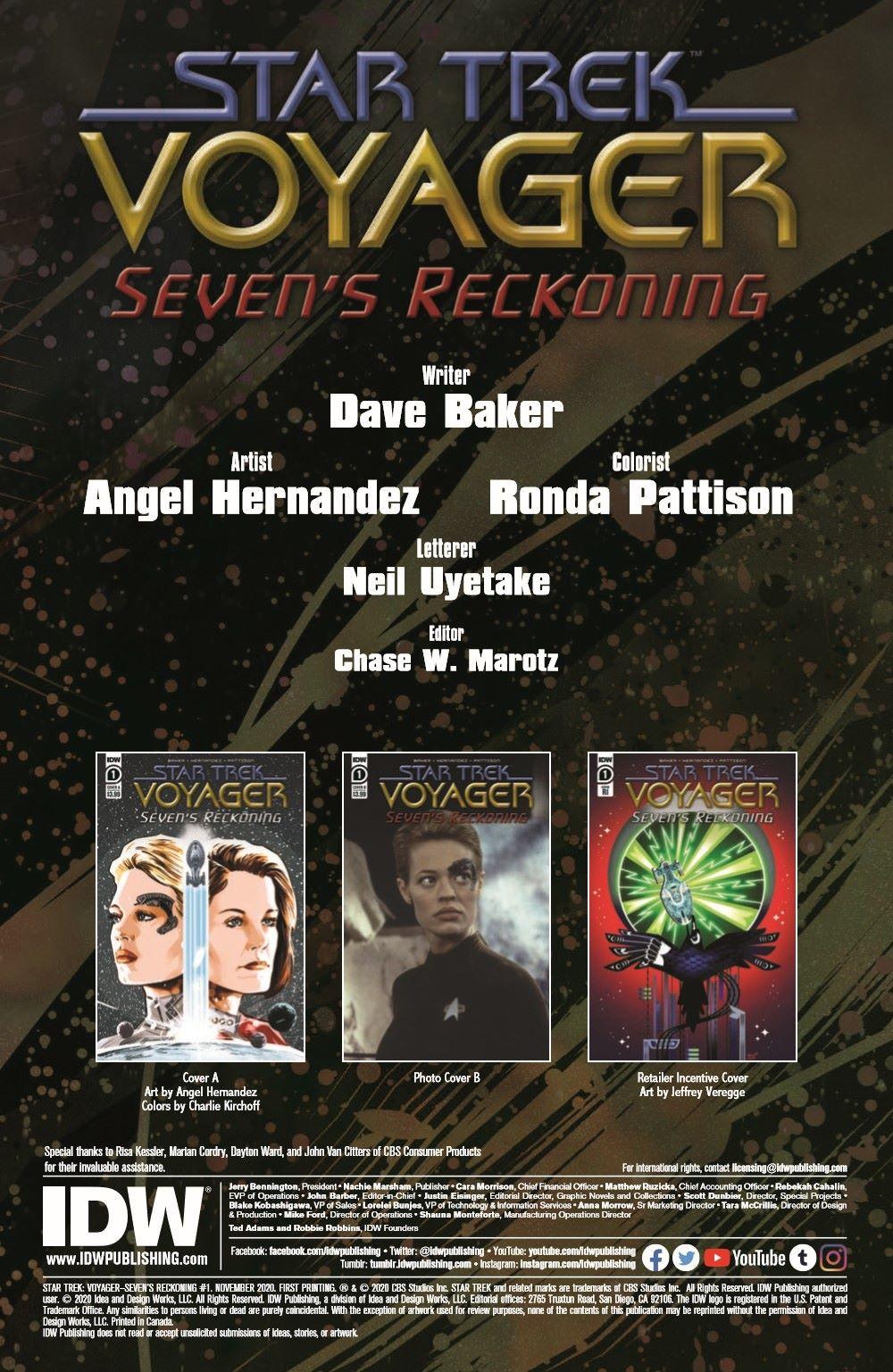 ST_Voyager_SR01-pr-2 ComicList Previews: STAR TREK VOYAGER SEVEN'S RECKONING #1 (OF 4)