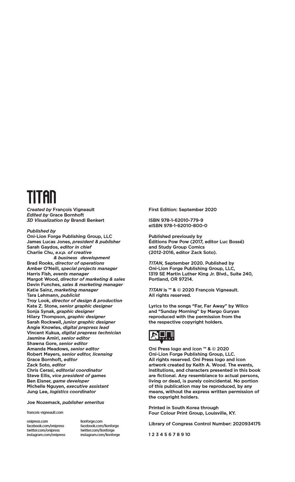 TITAN-REFERENCE-007 ComicList Previews: TITAN GN