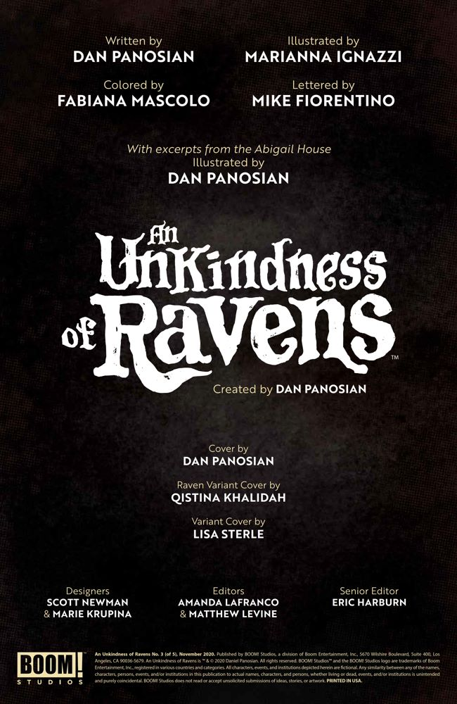 UnkindnessRavens_003_PRESS_2 ComicList Previews: AN UNKINDNESS OF RAVENS #3 (OF 4)
