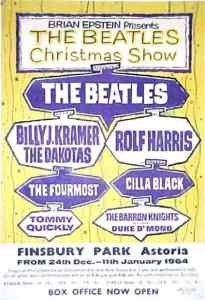 BEATLES-CHRISTMAS-1-205x300 All-Star Christmas Concert Posters Over the Years