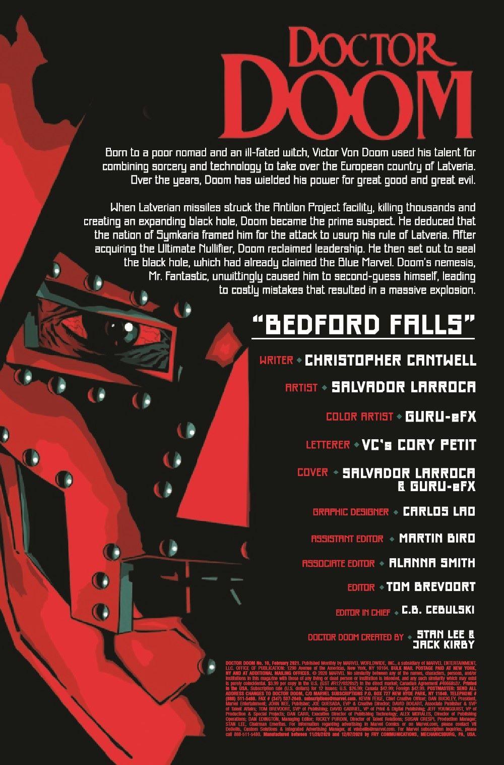 DOOM2019010_Preview-2 ComicList Previews: DOCTOR DOOM #10
