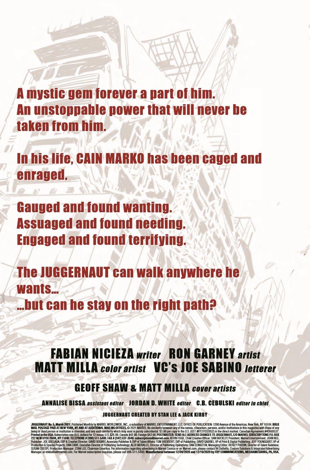 JUGG2020005_Preview-2 ComicList Previews: JUGGERNAUT #5 (OF 5)